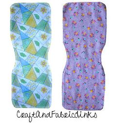 Easy sew burp cloth - fits nicely around neck and shoulders.