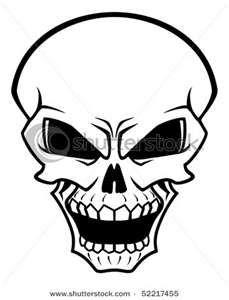 stock vector : Danger skull as a warning or evil concept. Jpeg version ...