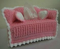 sandvicrochet: another sofa tissue box cover