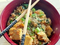 Kimchi Fried Rice with Bok Choy and Tofu is truly vegan Korean done right.
