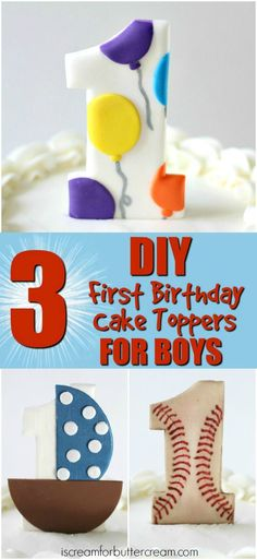These DIY cake toppe
