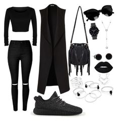 """""""Techno outfit"""" by stefania-marian ❤ liked on Polyvore featuring adidas, The Horse, Tiffany & Co. and Lime Crime"""