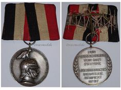 Germany Prussia WW1 1914 Kaiser Wilhelm's Military Medal Honor 97th Infantry Regiment Silver 800 German Decoration Award Merit