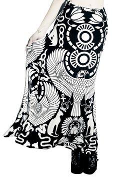 Vulture Maxi Skirt [B]