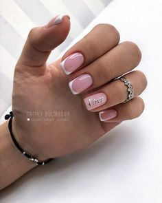 What manicure for what kind of nails? - My Nails Square Acrylic Nails, Acrylic Nail Designs, Shellac Designs, French Nails, Pink Nails, My Nails, Overlay Nails, Bridal Nails Designs, Nail Art For Beginners