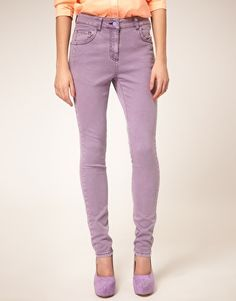 ASOS High Waisted Skinny Jean in Lilac    Yay or Na?