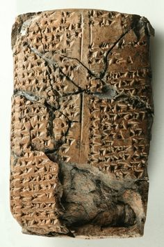 Unknown language found stamped in ancient clay tablet    In deciphering the tablet seen above, John MacGinnis of the University of Cambridge found that many of the names on the list are not from any currently known ancient language.
