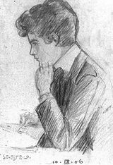 Selbstbildnis von Egon Schiele, 1906