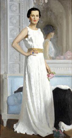 Portrait of Mme Revel by Albert Braitou-Sala. L'art Du Portrait, Female Portrait, Female Art, 1930s Fashion, Fashion Art, Vintage Fashion, Photografy Art, August Sander, Camille Claudel