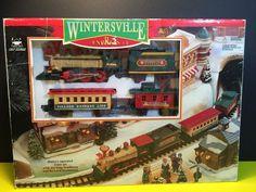 1996 Wintersville Express Train Set, Repair Or Display #NewBright