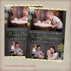 Christmas Card and Birth Announcement in One , YOU PRINT/DIY, by TillyClaires, $18.00  www.etsy.com/shop/tillyclaires  https://www.etsy.com/listing/117025433/christmas-card-and-birth-announcement-in?ref=shop_home_active