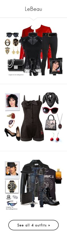 """""""LeBeau"""" by the-walking-doctor ❤ liked on Polyvore featuring Linda Horn, MCM, Dolce&Gabbana, Miu Miu, Vintage, men's fashion and menswear"""