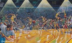 Ernie Barnes Lakers 'Fastbreak' Art