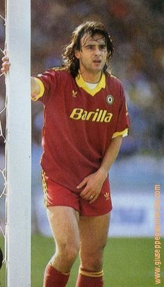 """Giuseppe Giannini, AS Roma (1981-1996). A precursor to Totti as captain and as a symbol of Roma, he played for the club from 1981-96 and, like Losi, captained the Giallorossi for nine seasons. He was an attacking midfielder who scored 49 goals in 318 Roma appearances, winning three Coppa Italias and 47 Italy caps along the way. Giannini earned instant favour by opting to sign for Roma ahead of rivals Lazio, and was nicknamed """"Il Principe"""" (the prince) for his grace and elegance on the pitch."""