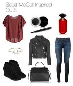 """""""Scott McCall Inspired Outfit"""" by thebanshee24 ❤ liked on Polyvore featuring Topshop, AG Adriano Goldschmied, H&M, Lanvin, I+I, Victoria's Secret, Arizona and Mary Kay"""