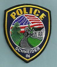 SCHNEIDER INDIANA POLICE PATCH