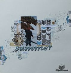 Magical Scrapworld, summer layout, Stampin' Up!