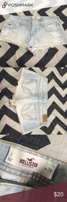 Hollister cut offs similar to Jessie James Decker Hollister cut off shorts - never worn, tags off, size 7 - cute for summer! Hollister Shorts