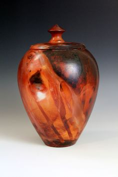 Saggar fired lidded container Anthony Rollins