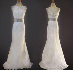 Custom make Vintage A LINE Lace Wedding Dress by NiceWeddingDress, $199.00