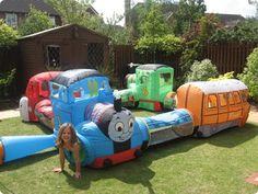 Thomas the Tank Engine Inflatable - you can hire this! NEED to find somewhere that can do this for me locally!!!