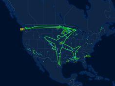 Boeing 787-8 Draws an America-Sized Self-Portrait In Test Flight | WIRED
