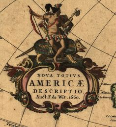 The New World - circa 1600 - Original at Library of Congress Geography and Map Division Washington, D.C.     Deeply Zoomable version at http://zoom.it/vWG0