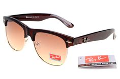 Ray-Ban Clubmaster 3016 Deep Brown Frame Tawny Lens RB1302 [RB-1325]