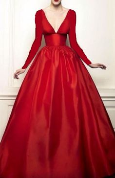 another red satin dress with sleeves crappily added in microsoft paint lol