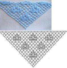 Вязание крючком шали, шарфа, пончо, палантина, парео - схемы и описания для начинающих