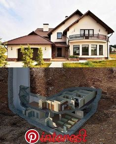 Abrigos Subterrâneos Abrigos Subterrâneos in 2020 | Underground house plans, Underground homes, House plans