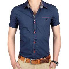 Sommer 2016 Herren Kurzarm Kleid Herrenhemd Herren Business Casual Hemd  Slim Kragenhemden SMC074 ed9a25a7417
