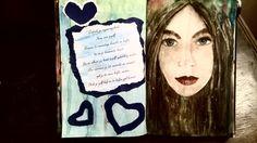Met aquarel geschilderd in mijn mixed media boekje. De foto heb ik later bewerkt met een foto programma.