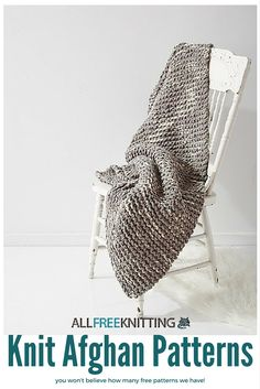 You won't believe how many free Easy to Knit Afghan and Easy to Knit Blanket patterns we have!  Find the perfect afghan for you right here: