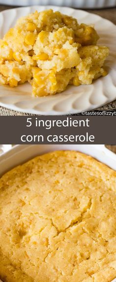 This no-fail corn 5 ingredient corn casserole recipe is versatile and bakes up into a savory side dish that will complement any meal. 5 Ingredient Corn Casserole Recipe {Easy Side Dish with Jiffy Mix} Sabine Djem Thanksgiving at Home This no Muffins Blueberry, Zucchini Muffins, Holiday Side Dishes, Easy Side Dishes, Casserole Dishes, Easy Corn Casserole, Corn Cassarole, Cream Corn Casserole, Cornbread Casserole Recipe Jiffy