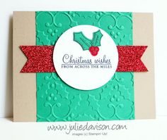 Stampin' Up! Holly Berry Happiness Christmas Card