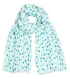 Anika Dali Women's Polka Dots and Stars Fashion Printed Scarf (Emerald Rain Drops) sale christmas birthday gift Fashion Scarves, formal, dressy scarves, pashmina shawls, shawls, wraps, cute, pretty, unique scarves, holiday scarf, holiday gifts for women, affordable, versatile shawls, designer scarves, stylish, modern, trendy, infinity circle loop shawls, sexy cute infinity scarves,
