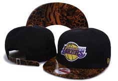 New Era Los Angeles Lakers Leopard Snapback Hats - Black e424fe6d387