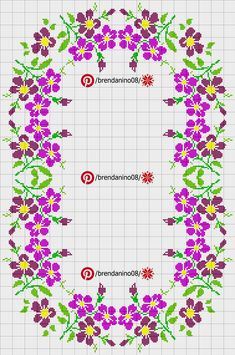 Counted Cross Stitch Patterns, Cross Stitch Designs, Cross Stitch Geometric, Crochet Tablecloth, Mavis, Cross Stitch Flowers, Projects To Try, Floral, Handmade