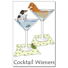 How fitting! Neville loves Josh's martinis and Nikki loves the olives.