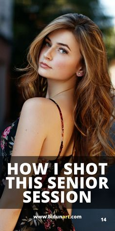 Learn how to edit a female portrait using Lightroom and Photoshop. How to find good lighting for outdoor portrait photography and top female posing tips. Senior Photography Poses, Outdoor Portrait Photography, Senior Girl Poses, Photography Articles, Girl Senior Pictures, Photography Guide, Outdoor Portraits, Senior Posing, Senior Photos