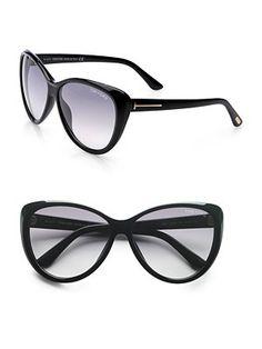 baa3d0785e7 Tom Ford - Malin Cat s-Eye Beveled Plastic Sunglasses Black