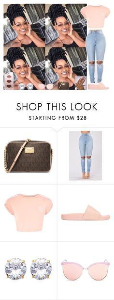 """""""#18"""" by qveensha ❤ liked on Polyvore featuring MICHAEL Michael Kors, Topshop, adidas Originals, Quay and Casetify"""
