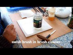 Porcelain painting - conditioning the brush.wmv - YouTube