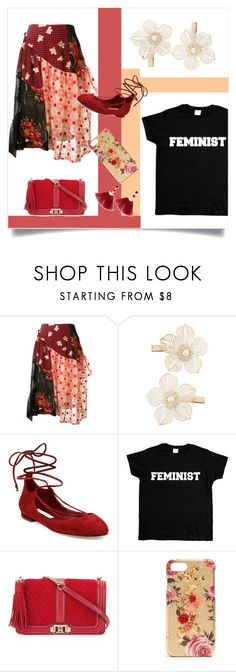 """""""Flowers & Feminism"""" by highly-fashionable-shark ❤ liked on Polyvore featuring Simone Rocha, Monsoon, Diane Von Furstenberg, Rebecca Minkoff, Dolce&Gabbana and Shashi"""