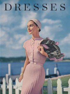 1950 fashion dresses vogue knitting