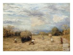 Hay and Haste, 1875 Giclee Print by John Linnell at Art.com