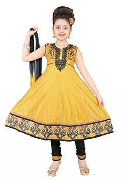 Lemmon Yellow Colour Girls Party Wear Salwar Suit, Vasundhara Fashions Indian Clothing