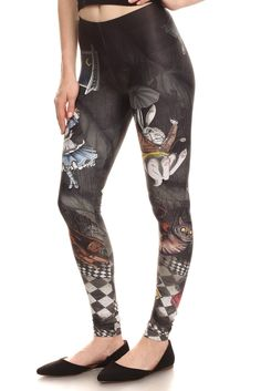 alice in wonderland rabbit hole leggings by poprageous.