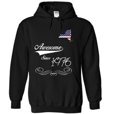 Awesome since 1976 T-Shirts, Hoodies. CHECK PRICE ==► https://www.sunfrog.com/Birth-Years/Awesome-since-1976-3473-Black-30261944-Hoodie.html?id=41382